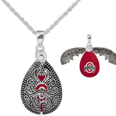 Ohio State Lady Bug Necklace