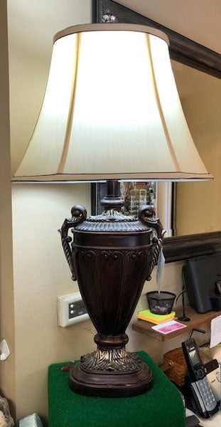 Antique Style Lamp with Lampshade