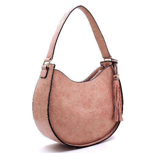 Python Snakeskin Shoulder Bag Blush