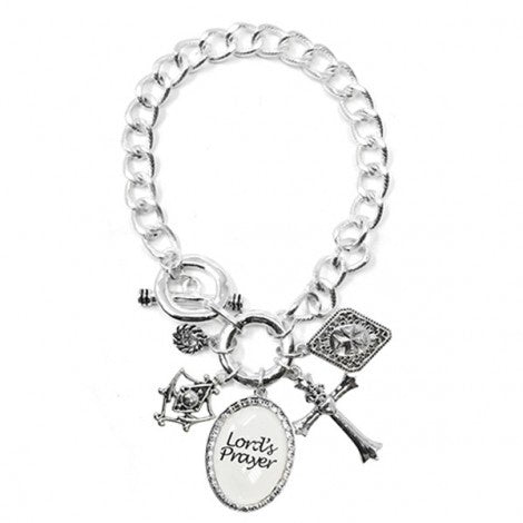 Multi Charm Bracelet Lord's Prayer