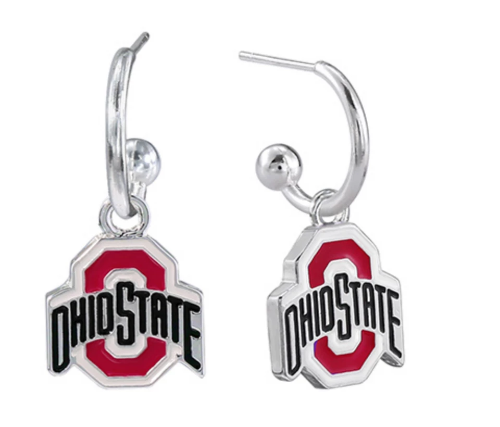 Dangle OSU Logo Earrings
