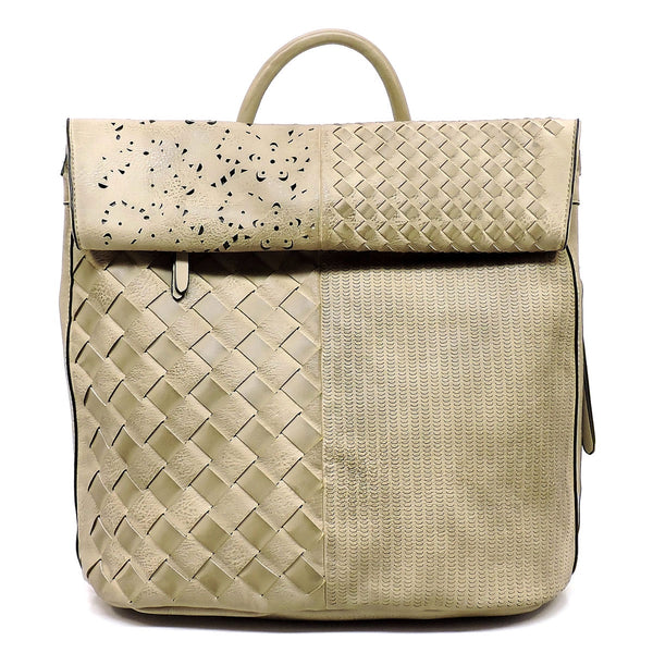 Spray Printed Woven Laser Cut Backpack