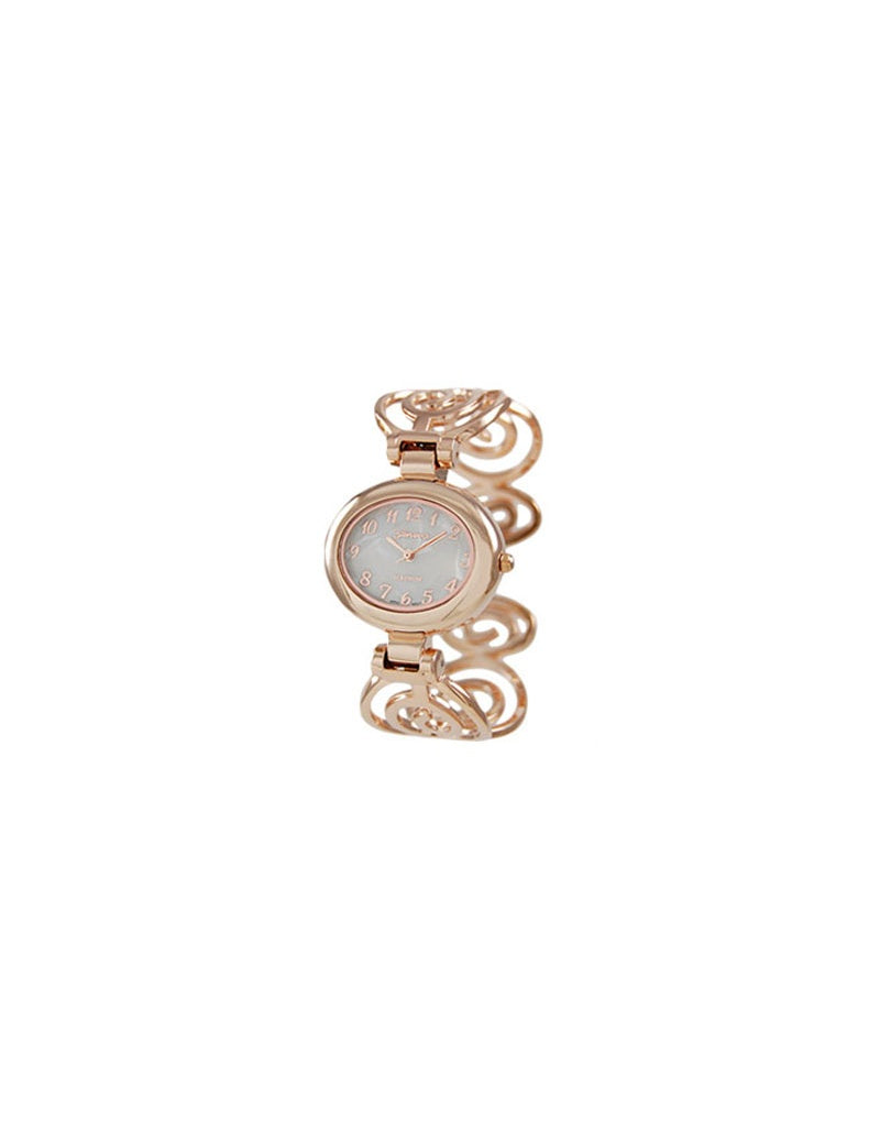 Swirly Band Bracelet Watch Rose Gold