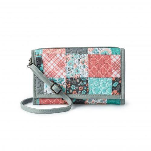Donna Sharp Sydney Wallet/Crossbody - Melon Mint