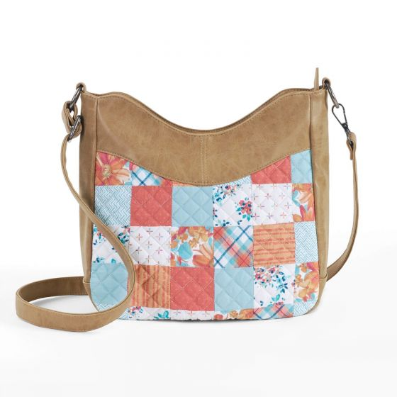 Donna Sharp Michelle Hobo Bag - Papaya Patch Front