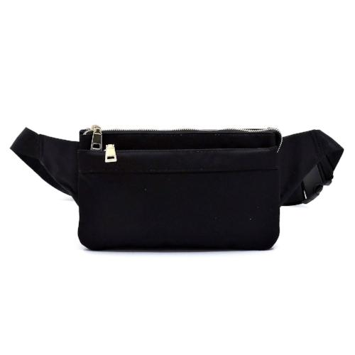 Nylon Fanny Pack Waist Bag Black