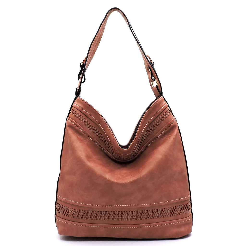 Weave Stripe Shoulder Bag Rust