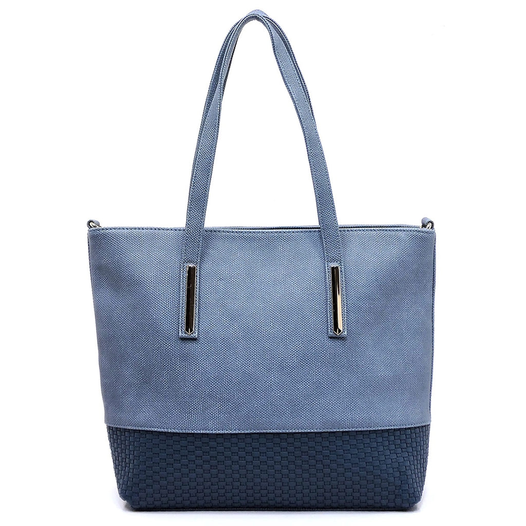 Textured Colorblock Tote