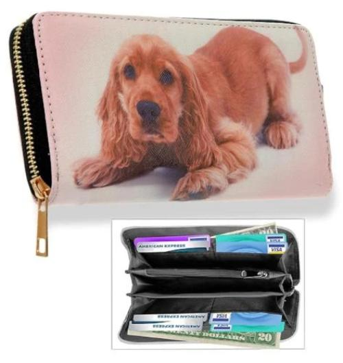 Playful Puppy Accordion Wallet