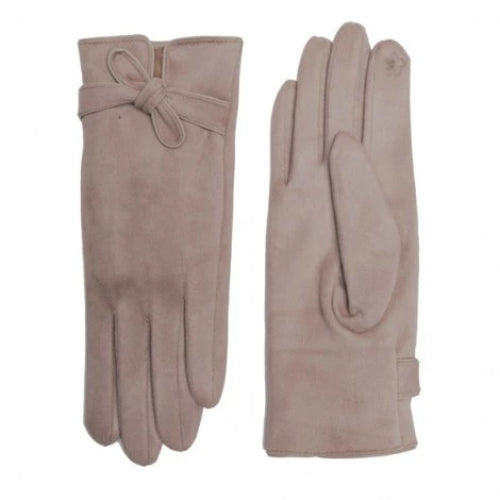 Knot Tie Touch Screen Glove Beige