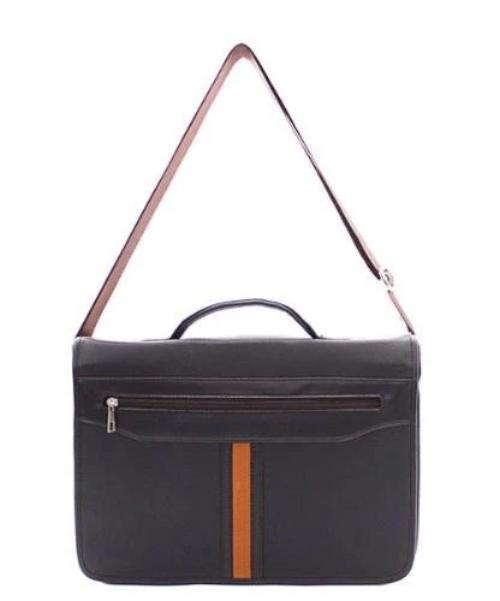 Faux Leather Laptop Bag/Briefcase Brown