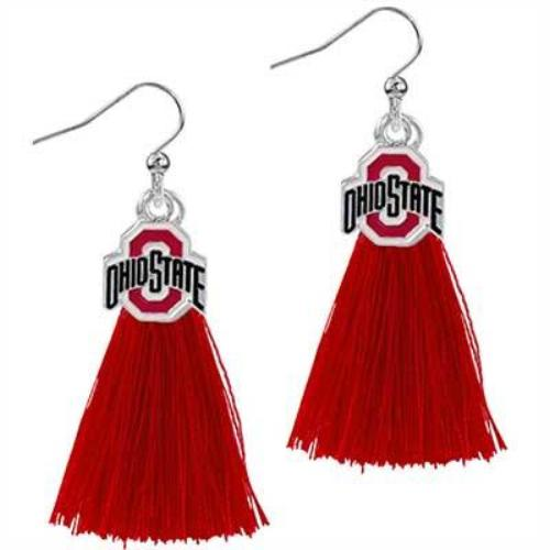 Tassel Charm Earrings | Ohio State