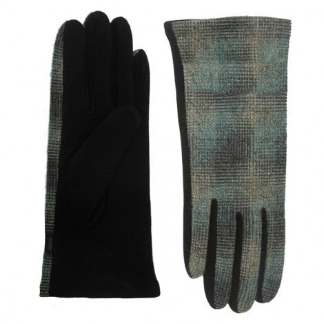 Trendy Plaid Gloves Green