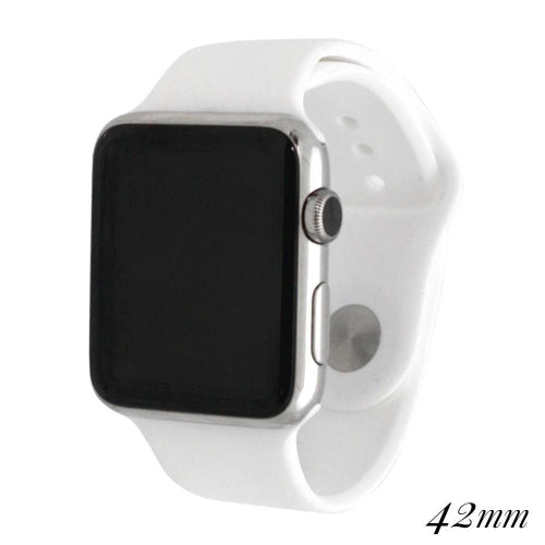 42mm Silicone Watch Band for Smart Watches White