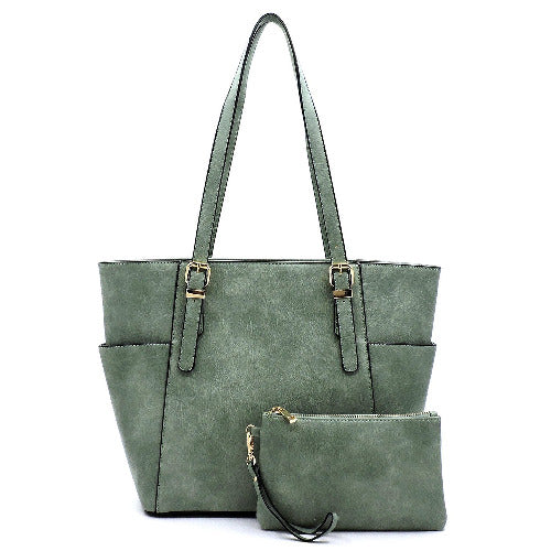 Distressed Look 2-in-1 Shopper