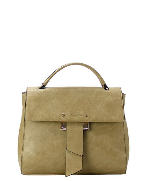 Single Carry Handle Satchel/Tote Olive