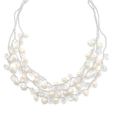 Genuine Freshwater Pearls 3-Row Necklace