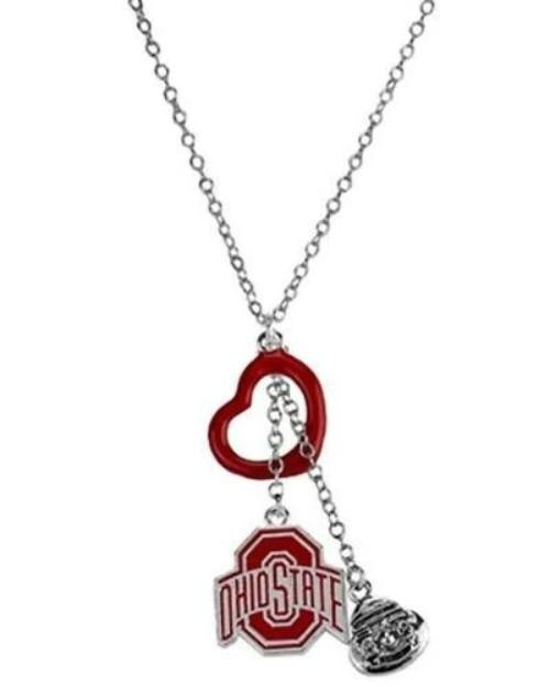 Ohio State Buckeyes Tri-Charm Necklace