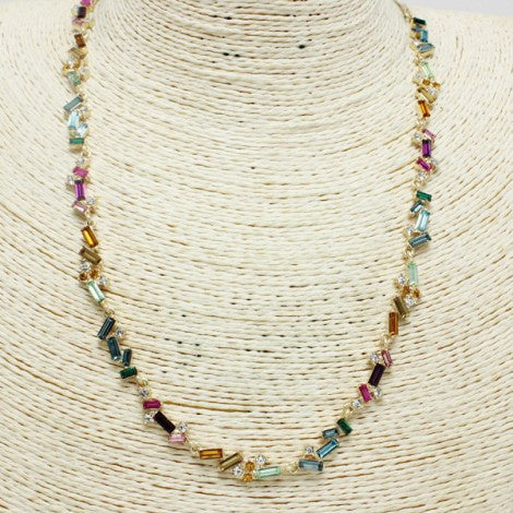 Rainbow Stone Adjustable Necklace