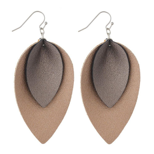 Double Teardrop Earrings Rose Gold
