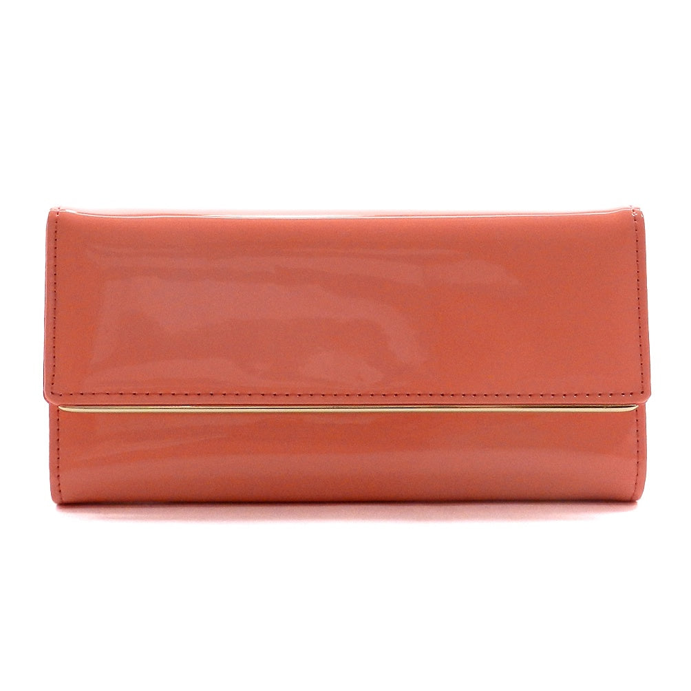 Patent Faux Leather Women's Trifold Wallet