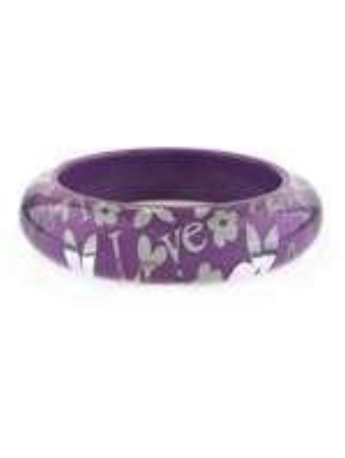 Fun Purple/Silver Bangle Bracelet