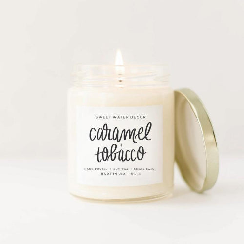 Caramel & Tobacco Soy Candle