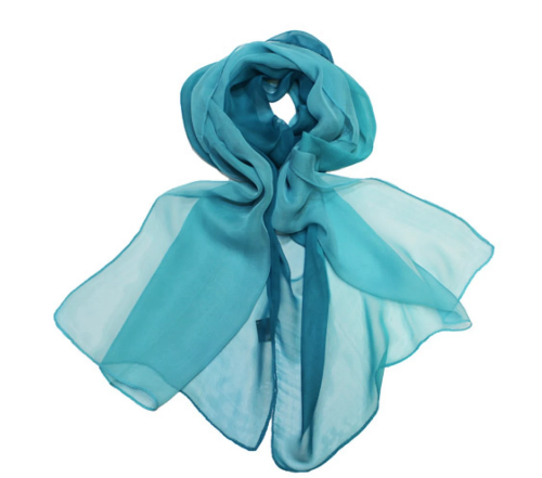 Ombre Scarf Cyan