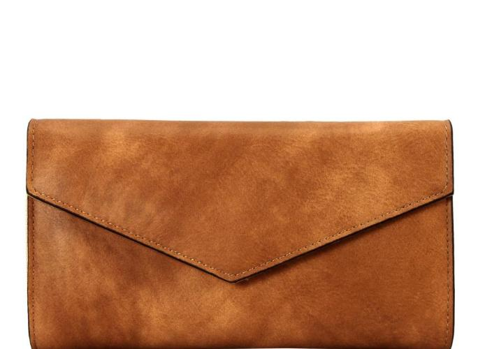 Multi Compartment Envelope Wallet Taupe