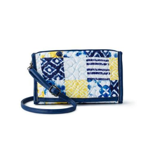 Donna Sharp Sydney Wallet/Crossbody - Cobalt Sun