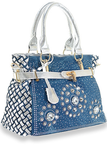 Rhinestone and Stud Belted Handbag