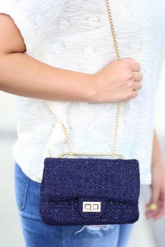 St. Clair Tweed Crossbody Navy