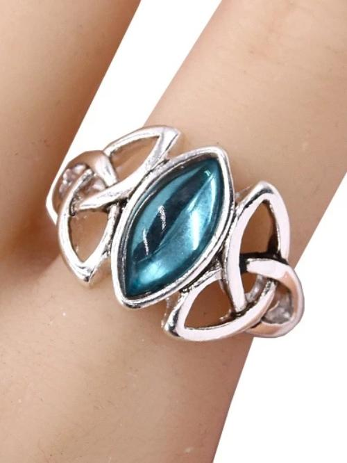 Celtic with Epoxy Stone Stretch Ring