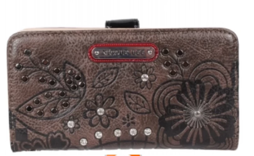 Floral Engraved Wallet