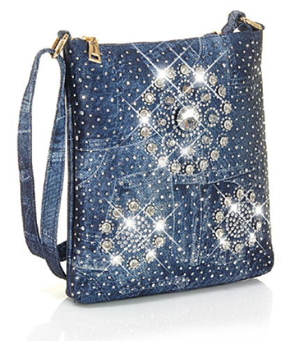 Denim Bling Crossbody