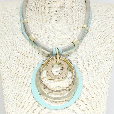Multi Media Accent Choker Gold/Mint