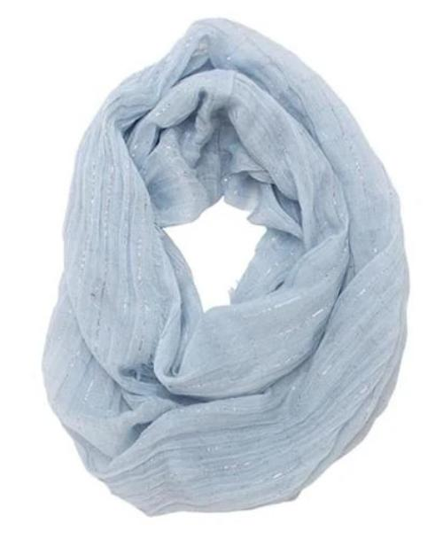 Gauze Infinity Scarf Light Blue
