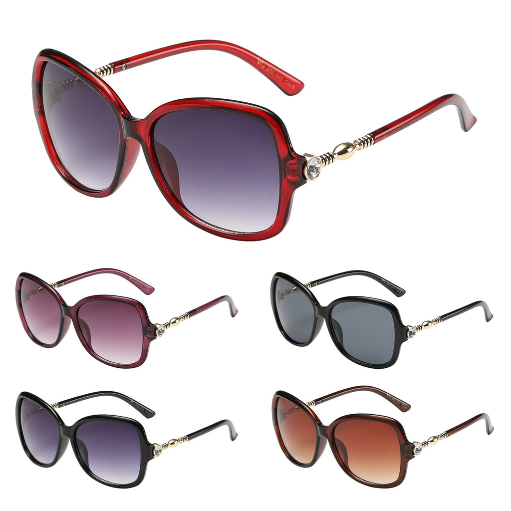 Crystal Accent Sunglasses Asorted Colors