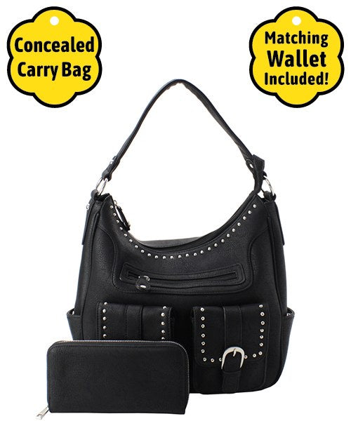 Conceal Carry Shoulder Bag Set Black
