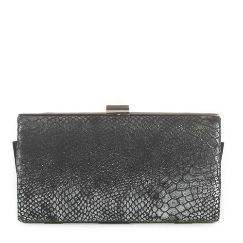 Snakeskin Evening clutch Silver