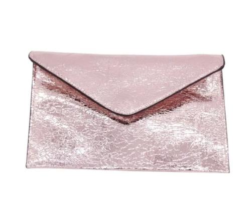 Envelope Style Special Occasion Clutch Rose Gold