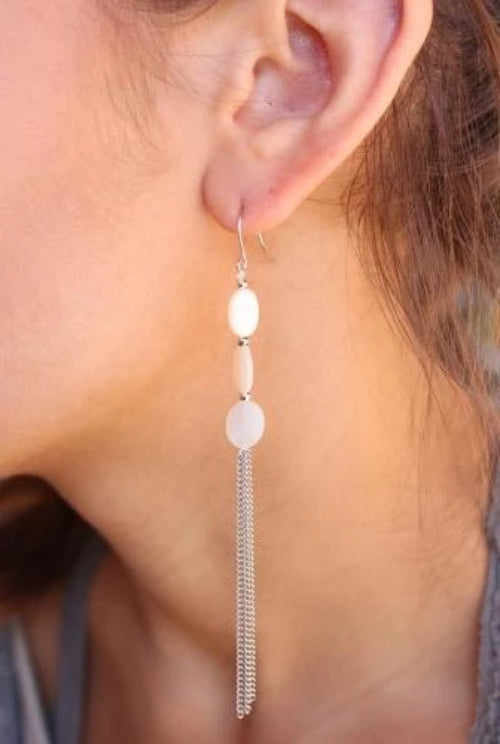 Triple Mother of Pearl Earrings