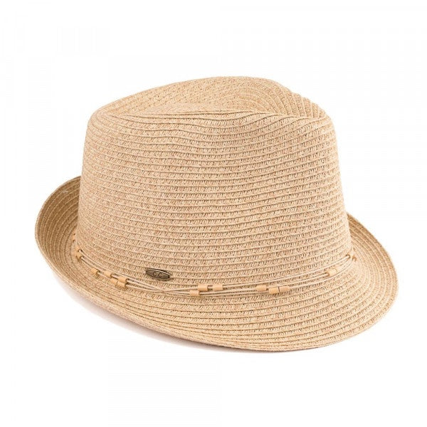 Multi Colored Fedora Hat Sand