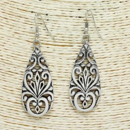 Antique Silver Filigree Earrings