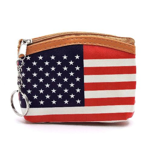 Flag Coin/Lipstick Purse
