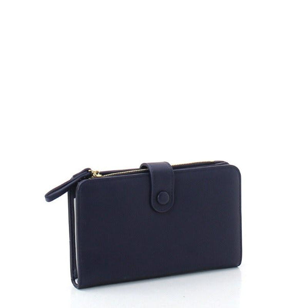 Bi-Fold Cell Phone Wallet Navy