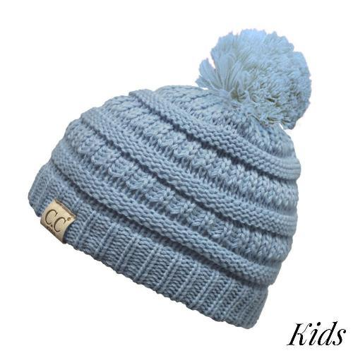 C.C Kids Pom Pom Beanie Denim