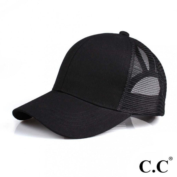 C.C Ponytail Cap Black