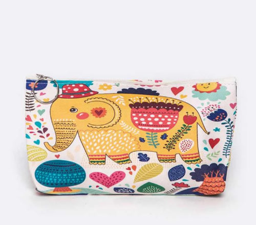 Elephant Print Make Up Bag/Pouch Style 3
