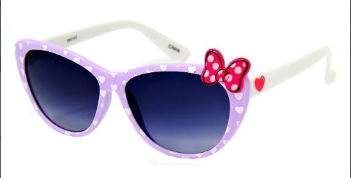 Girl's Plastic Frames with Bow Accent Purple